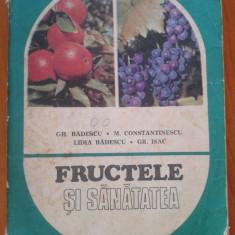 FRUCTELE SI SANATATEA - Gh. Badescu, M. Constantinescu, Lidia Badescu, Gr.Isac - Carti Agronomie