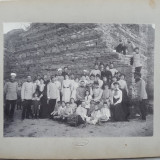 Regimentul 1 Geniu, Ramnicu Valcea, ofiteri cu familiile, interbelica - Fotografie veche