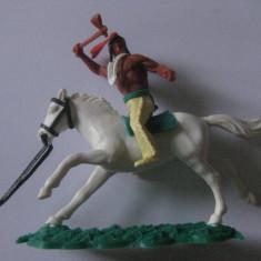 FIGURINA ENGLEZA CALARET INDIAN FABRICATA DE TIMPO TOYS IN ANII 80 - Miniatura Figurina