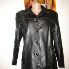 Jacheta din piele naturala neagra - Jacheta dama, Marime: M