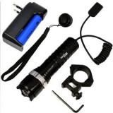 Lanterna pentru arma, cu acumulator, Bailong CU ZOOM, PUTERE 100W
