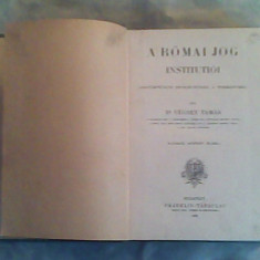 A romai jog institutioi-Vecsey Tamas