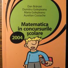 Carte - Dan Branzei, Dumitru Golesteanu, Maria Golesteanu, Aurelian Costache - Matematica in concursurile scolare - clasele IV-VI - Manual scolar paralela 45, Clasa 4, Paralela 45