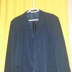 Vand saco Hugo Boss Made in italy - Sacou barbati Hugo Boss, Marime: 48, Culoare: Negru, 3 nasturi, Marime sacou: 48, Normal