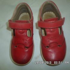 PANTOFI DECUPATI, PIELE NATURALA INTERIOR - EXTERIOR, NR. 27, STARE BUNA - Pantofi copii, Culoare: Rosu, Fete