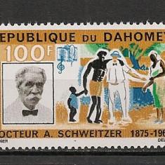 Dahomey.1966 Albert Schweitzer-medic Premiul NOBEL SD.35 - Timbre straine