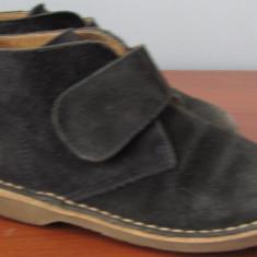 Pantofi piele BUBBLE GUMMERS, marimea 27, 17, 5cm + CADOU - Pantofi copii, Culoare: Negru, Baieti, Piele naturala