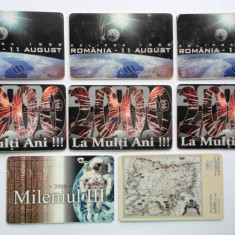 Lot cartele telefonice romanesti - 4 - eclipsa de soare 1999, mileniul III - Cartela telefonica romaneasca