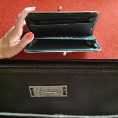 Portofel verde sarpe stradivarius - Portofel Dama, Cu inchizatoare