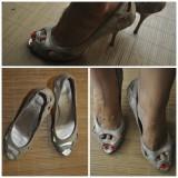 Pantofi TABU exclusive, piele - Pantof dama, Culoare: Auriu, Marime: 37, Auriu