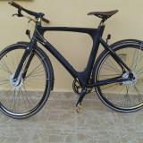 Avenue Broadway Premium NightBlack Mat - Bicicleta de oras, Numar viteze: 7, Aluminiu, Negru mat, Discuri, Drept(Flatbar)