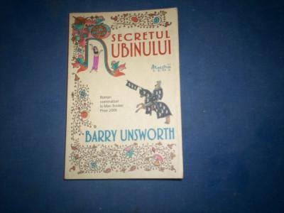 SECRETUL RUBINULUI BARRY UNSWORTH foto