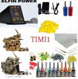Kit Tattoo profesional sursa Efin Power  cu 2 masini si sursa dubla digitala plus kit de 10 culori+geanta cadou ,tatoo,aparat tattoo,tatuat