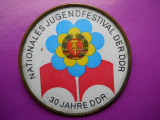 GERMANIA [DDR] FESTIVALUL TINERETULUI DIN RDG -30 ANI RDG - HOPCT