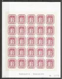 GERMANIA Greimp- Reimpresiune Hamburg nr.21- bloc comemorativ de 25 timbre - numerotat - cota 50 euro cat,Michel