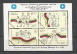 """GERMANIA Gan 1982 Proiect neaprobat de timbre """"pentru Sport""""-an 1982-tipar oficial al postei germane"""