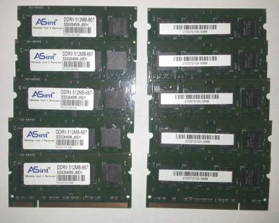 Memorii laptop SO-DIM ASint DDRII 512MB-667 foto