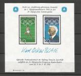 GERMANIA Gan 1981 proiect neaprobat de marci pt.Olimpiada de vara1968 -tipar oficial al postei germane in beneficiul sportului german