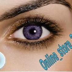 Lentile de contact mov 1M. Aspect natural. Pentru un iris deschis. Pentru 1 AN. - Lentile de contact colorate