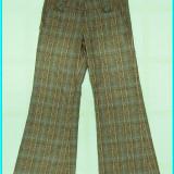 DE FIRMA _ Pantaloni grosuti, bumbac, marca ZARA _ fete | 7 - 8 ani | 122-128 cm