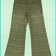 DE FIRMA → Pantaloni grosuti, bumbac, marca ZARA → fete | 7—8 ani | 122—128 cm, Bej