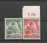 """BERLIN - WEST  Bw80-81 Ziua marcii postale 1951-Expozitia filatelica """"Timbre din Lume"""" -Berlin 1951"""