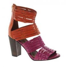 Sandale Piele - Sandale dama Asos, Culoare: Rose, Marime: 37, Rose