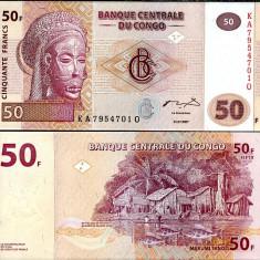 CONGO- 50 FRANCS 2007- UNC!!
