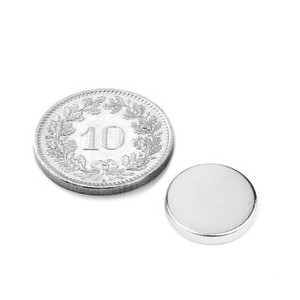 Magneti Neodim disc puternic 1,4 Kg Forta 12/2 mm  magneti frigider marochinarie