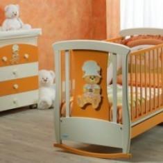 Patut plus comoda Ivan con Orso Baby-Italia - Patut lemn pentru bebelusi, 1-3 ani, Alte dimensiuni, Altele