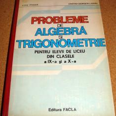 PROBLEME DE ALGEBRA SI TRIGONOMETRIE ( clasele IX - X ) - Pirsan / Lazanu - Culegere Matematica