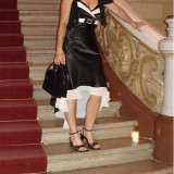 Rochie de ocazie alb-negru
