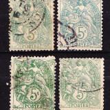Timbre FRANTA 1900 - LIBERTATE, EGALITATE, FRATERNITATE