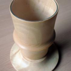 Vas din lemn cu sticla pentru flori - Vaza si suport flori