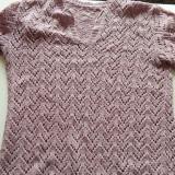Bluza cu maneca scurta de dama femei tricotata, L/XL. COMANDA MINIMA 30 LEI!
