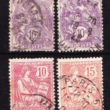 Timbre FRANTA 1900 - LIBERTATE, EGALITATE, FRATERNITATE + DREPTURILE OMULUI