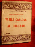 VASILE CARLOVA si ALEX.SIHLEANU - POEZII cca 1930 ,prez. L.Predescu, Alta editura