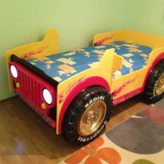 Vand Pat Junior Monster Truck - Pat tematic pentru copii, 3-6 ani, Alte dimensiuni, Galben