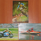 Lot 3 Carti Postale Sport - Salon international de arta fotografica Sibiu 87 (1987) (Vedere veche Motocicleta, Motocros) - Carti Postale Romania dupa 1918, Necirculata