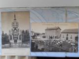 RAR! 2 Carti Postale Anii 1900 ALB-NEGRU,Geneve - Monument Brunswick,Saint Jodard (St. Jodard - Loire) - Le ferme departementale (Vederi vechi Geneva)