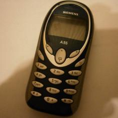 Siemens A55 - 69 lei - Telefon mobil Siemens, Albastru, <1GB, Neblocat, Fara procesor, Nu se aplica