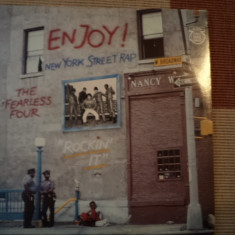 "Enjoy New York Street Rap Fearless Four Rockin It disc Vinyl 12"" muzica hip hop, VINIL"