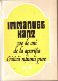 Immanuel Kant-200 de ani de la aparitia Criticii ratiunii pure