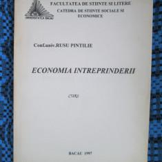 Rusu PINTILIE - ECONOMIA INTREPRINDERII (1997 - CA NOUA!!!)