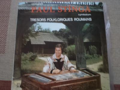 Paul Stinga Stanga tambal Cymbalum Tresors Folkloriques Roumains disc vinyl lp foto
