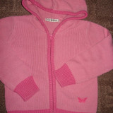 pulover Roz-GEORGE cu gluga-f frumos si util ! mar.3-4 ani , Perfect !!