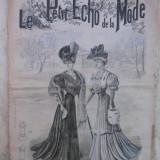 JURNAL DE MODA AL ANILOR 1900 - LE PETIT ECHO DE LA MODE - 21 IANUARIE 1906 - NUMEROASE RECLAME DE EPOCA