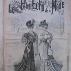 JURNAL DE MODA AL ANILOR 1900 - LE PETIT ECHO DE LA MODE - 21 IANUARIE 1906 - NUMEROASE RECLAME DE EPOCA - Revista vintage