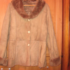 Cojoc haina blana naturala mar. 44-46 - cojoc dama
