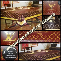 FATA MASA FIRMA LOUIS VUITTON made in FRANCE 170 x 210 cm SATIN IMPRIMEU CLASIC - Fata de masa